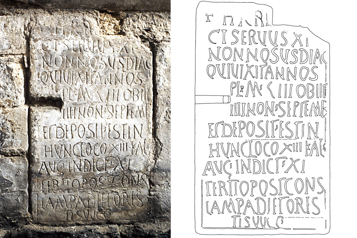 Spätantike Inschrift